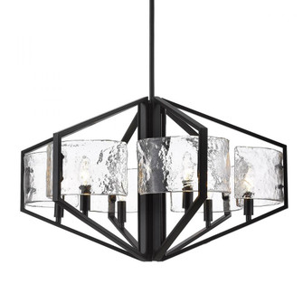 Varsha 6 Light Chandelier (36|31626BLKHWG)