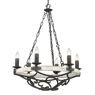 Madera 6 Light Chandelier (36|18216ABICDW)