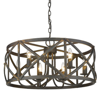 Alcott 6 Light Chandelier (36|08906ABI)