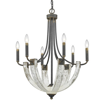 Elwood 6 Light Chandelier (36|08406ABI)