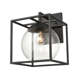 Cubed 1-Light sconce in  Charcoal (91|473221)