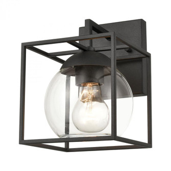 Cubed 1-Light sconce in  Charcoal (91|473201)