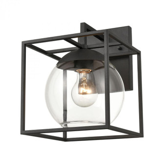 Cubed 1-Light sconce in  Charcoal (91|473211)