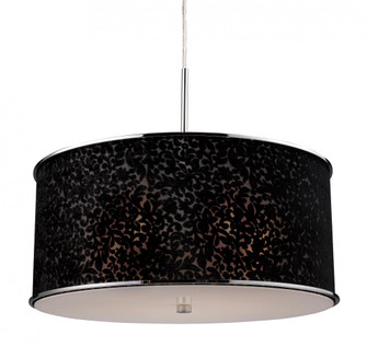 Fabrique 5-Light Chandelier in Polished Chrome with Velvet Black Lace Shade (91|200485)