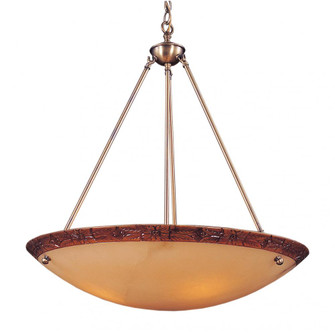 Engravers 5-Light Pendant in Antique Brass (91|96435)