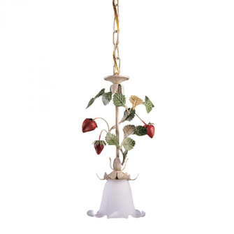 1-Light Hanging Pendant with Flowers (91|66402)