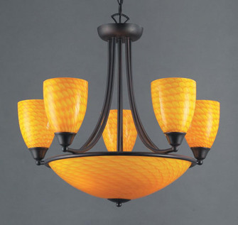 Arco Baleno 8-Light Chandelier in Canary Yellow (91|41953CNDR)