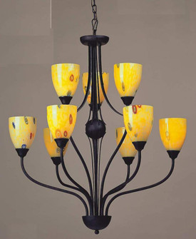 CLASSICO COLLECTION      YELLOW BLAZE GLASS 9 LIS (91|40563YW)