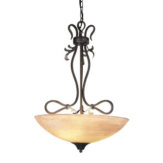 ACANTHUS 3-LIGHT PENDANT in RUSTY BRONZE (91|317RB)