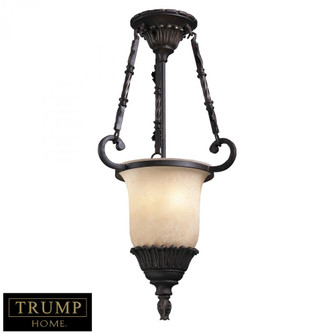 2-Light Pendant in Antique Bronze with Weathered Caramel Glass (91|151032)