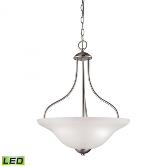 Conway 3-Light Pendant in Brushed Nickel with LED Option (91|1203PL20LED)