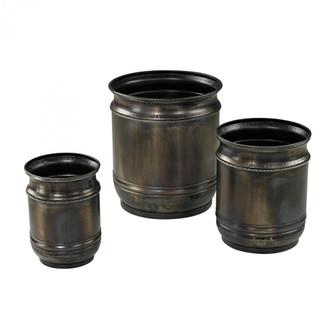 Oxidised Finish Planters (Set of 3) (7480|268669S3)