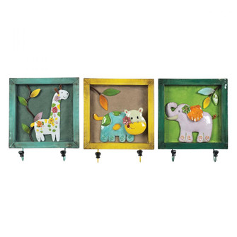 Animal Picture Wall Hooks (Set of 3) (7480|1291075)
