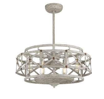 Colonade 6 Light  Provence With Gold Accents Fan D Lier (128 34FD123155)