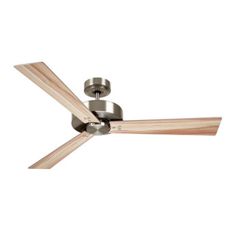 kathy ireland HOME by Luminance Brands Keane 52 Inch Ceiling Fan, Brushed Steel | Modern D (53|CF320ABS)