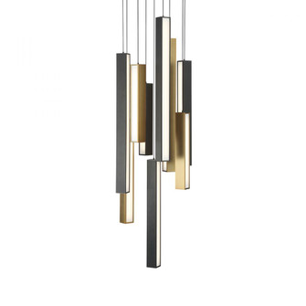 Chaos LED Round Chandelier (8246|PD64809RBKABBK)
