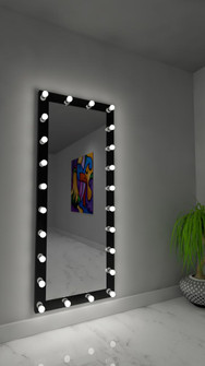 Grace Hollywood Mirror - Bluetooth & LED BULBS (4456|HDRESS70286000DBLK)