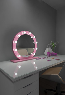 Grace Hollywood Mirror - Bluetooth & LED BULBS (4456|HDIANA286000DPNK)