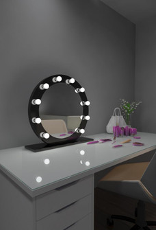 Grace Hollywood Mirror - Bluetooth & LED BULBS (4456|HDIANA286000DBLK)
