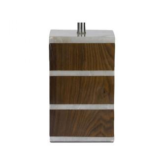 Sliced Alabaster/Shesham Lamp - BASE ONLY (7480|786012B)