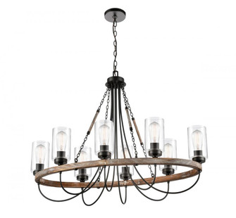 Paladin Oval Chandelier (3442|4428CRBKCLLED)