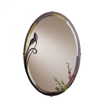 Beveled Oval Mirror with Leaf (65|71001485)