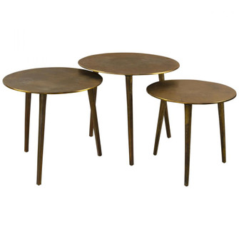 Uttermost Kasai Gold Coffee Tables, S/3 (85|25148)