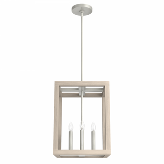 Squire Manor 12in Brushed Nickel Bleached Wood (4797 19085)