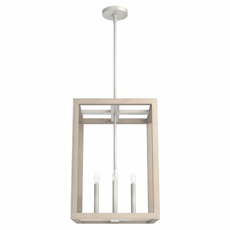 Squire Manor 15in Brushed Nickel Bleached Wood (4797 19087)