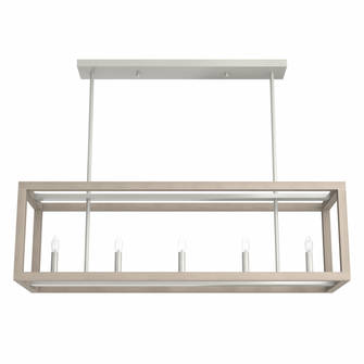 Squire Manor 40in Brushed Nickel Bleached Wood (4797 19091)