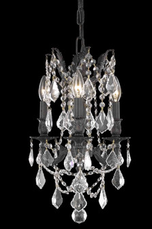 Rosalia 3 light Dark Bronze Pendant Clear Swarovski? Elements Crystal (758|9203D13DBSS)