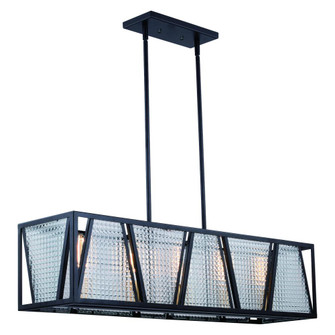 Oslo 5L Linear Chandelier Black and Natural Brass (51 H0224)