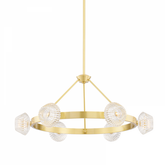 6 LIGHT CHANDELIER (57 6135AGB)