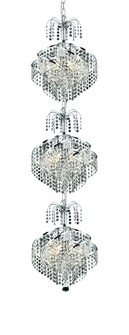 8052 Spiral Collection Large Hanging Fixture D14in H53in Lt:9 Chrome Finish (Spectra Swarovski Cryst (758 8052G14CSA)