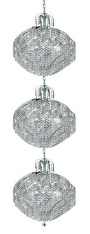 8052 Spiral Collection Large Hanging Fixture D26in H78inin Lt:36 Chrome Finish (Spectra Swarovski Cr (758 8052G26CSA)
