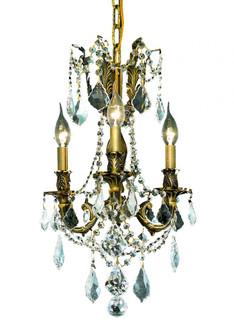 9203 Rosalia Collection Hanging Fixture D13in H18in Lt:3 Antique Bronze Finish (Swarovski Spectra Cr (758|9203D13ABSA)