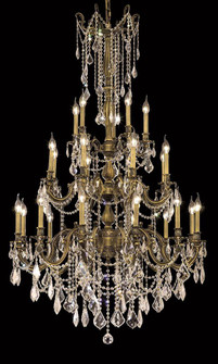 9225 Rosalia Collection Large Hanging Fixture D38in H62in Lt:12+8+5 Antique Bronze Finish (Swarovski (758 9225G38ABSA)