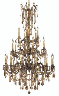 9225 Rosalia Collection Large Hanging Fixture D38in H62in Lt:12+8+5 Antique Bronze Finish (Swarovski (758 9225G38ABGTSS)