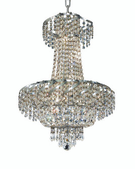 ECA2 Belenus Collection Hanging Fixture D18in H22in Lt:6 Chrome Finish (Swarovski Strass/Elements Cr (758 ECA2D18CSS)