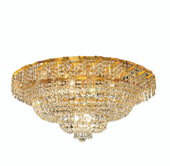 ECA2 Belenus Collection Flush Mount D30in H16in Lt:12 Gold Finish (Swarovski Strass/Elements Crystal (758|ECA2F30GSS)