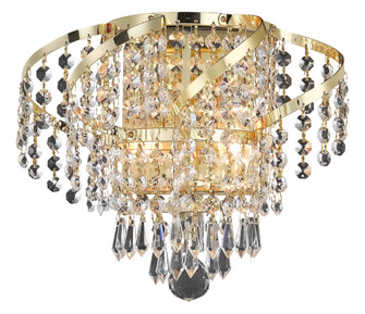ECA4 Belenus Collection Wall Sconce W12in H8in E9in Lt:2 Gold Finish (Elegant Cut Crystals) (758 ECA4W12GEC)