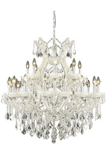 Maria Theresa 25 light white Chandelier Clear Spectra? Swarovski? Crystal (758 2800D36WHSA)