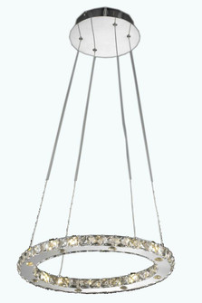 Atom Collection Chandelier L18in W14in H1.5in LT:16 Chrome Finish (Royal Cut Crystals) (758 2067D18CRC)