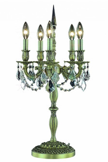 Rosalia Collection Table Lamp D13in H26in Lt:5 Antique Bronze Finish (Royal Cut Crystals) (758|9205TL13ABRC)