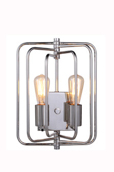 Lewis Collection Wall Lamp W:10 H:13 E:6 Lt:2 Polished Nickel Finish (758|1454W10PN)