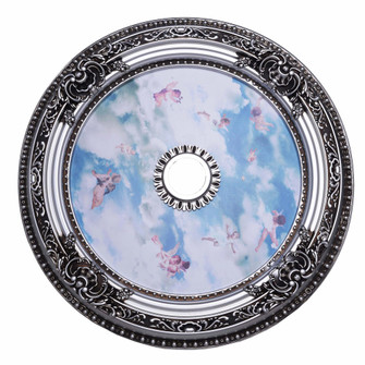 35 in. Ceiling Medallion in Pewter (758 MD111D35PW)