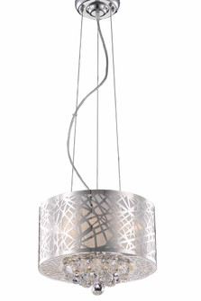 Siri Collection Pendant D12in H10in Lt:3 Chrome Finish (758|LD2078D12C)