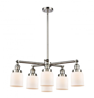 Small Bell 6 Light Chandelier (3442|2076CRPNG51)