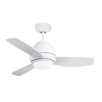 Curva LED Outdoor Ceiling Fan with Light Kit  44 Inch Indoor/Outdoor Lighting Fixture with Remo (53 CF244LWW)