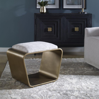 Uttermost Hoop Small Gold Bench (85|23673)